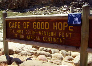 Schild Aufschrift:cape of good hope